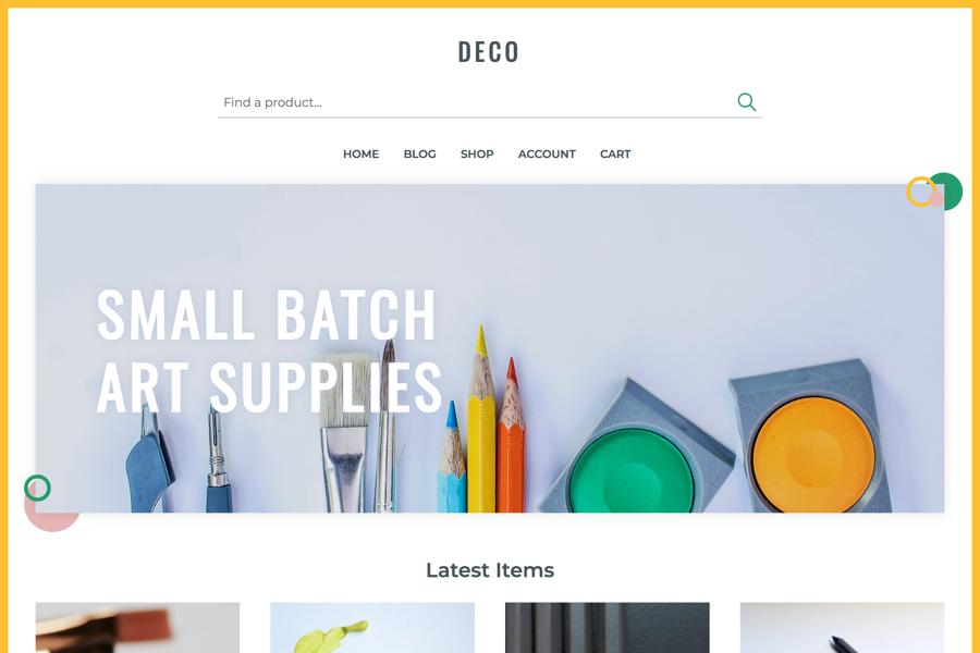 Deco Store Demo
